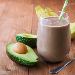 Wellbeing event ideas Healthy chocolate avocado banana smoothie