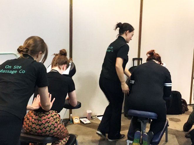 Events massage with Perkbox