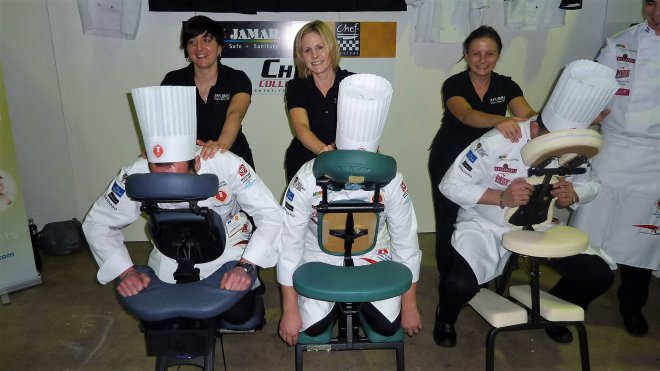 on site massage for chefs