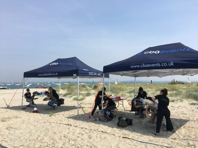 massage event on the beach