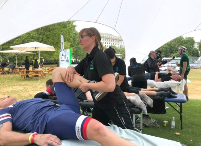 Sports massage at Ride London
