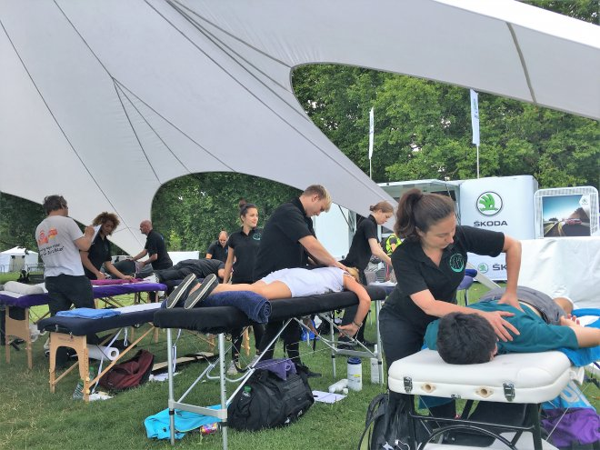 Sports massage for cyclists